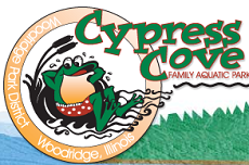 [Cypress Cove Family Aquatic Park Logo]