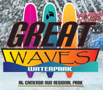 [Great Waves Water park Logo]
