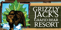 [Grizzly Jack's Grand Bear Resort Logo]